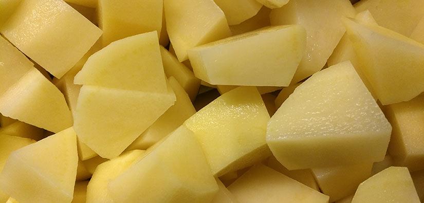 Pommes de terre coupées